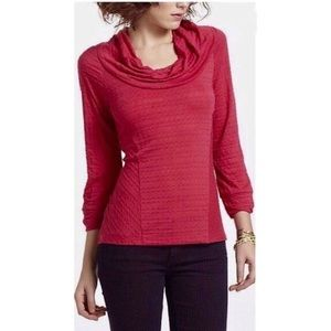ONE SEPTEMBER | Anthro Red Yorkshire Cowlneck Top
